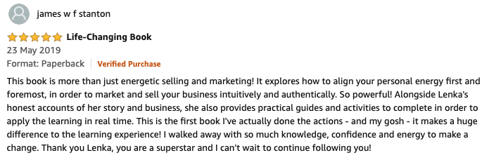 Energetic Selling and Marketing Book Review